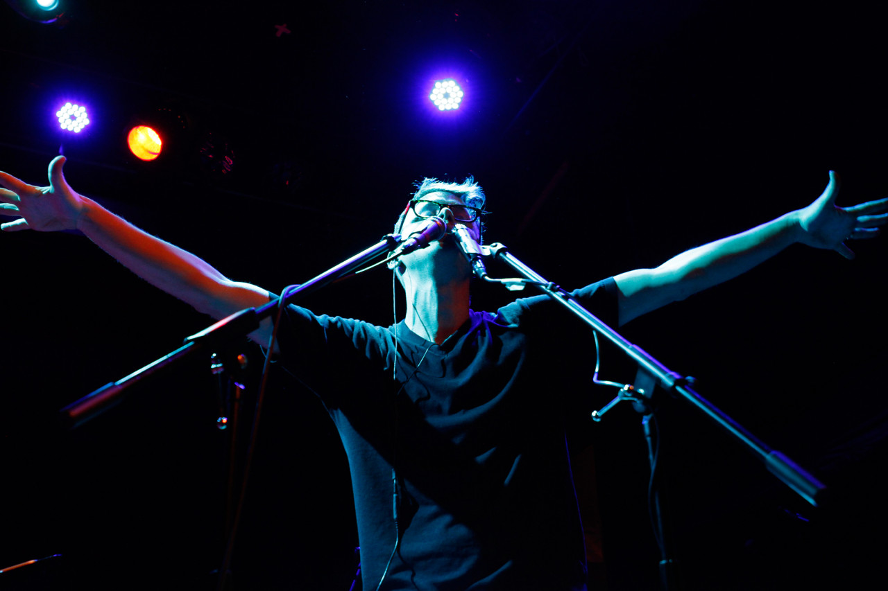 Son Lux plays at Bowery Ballroom in New York, NY on Feb. 7, 2014.