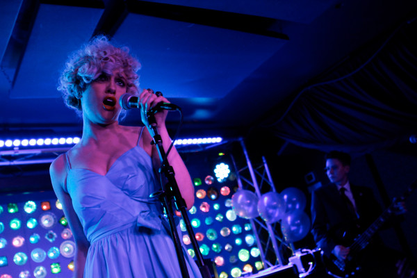Priests plays at Indie Pop Prom at Baby's All Right in Brooklyn, NY on Feb. 13, 2015.