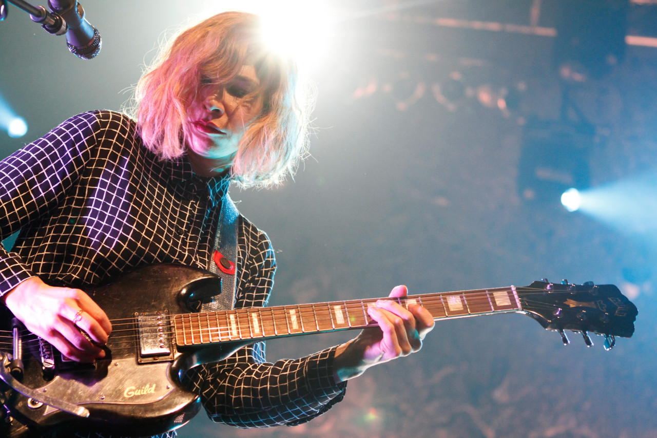 Sleater-Kinney plays at Terminal 5 in  New York NY on Feb. 27, 2015.