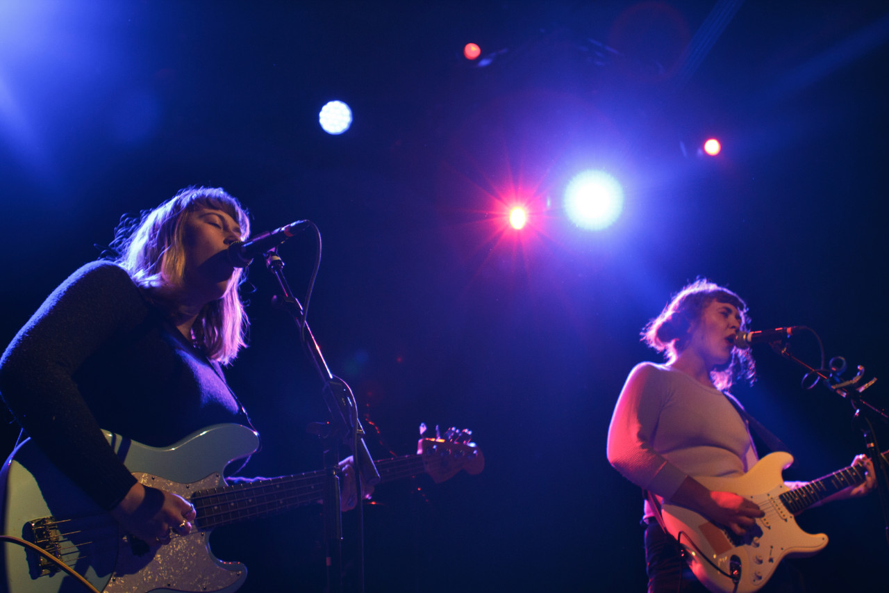 Girlpool plays at Music Hall Of Williamsburg in Brooklyn, NY on April 9, 2015. (© Michael Katzif - Do not use or republish without prior consent.)