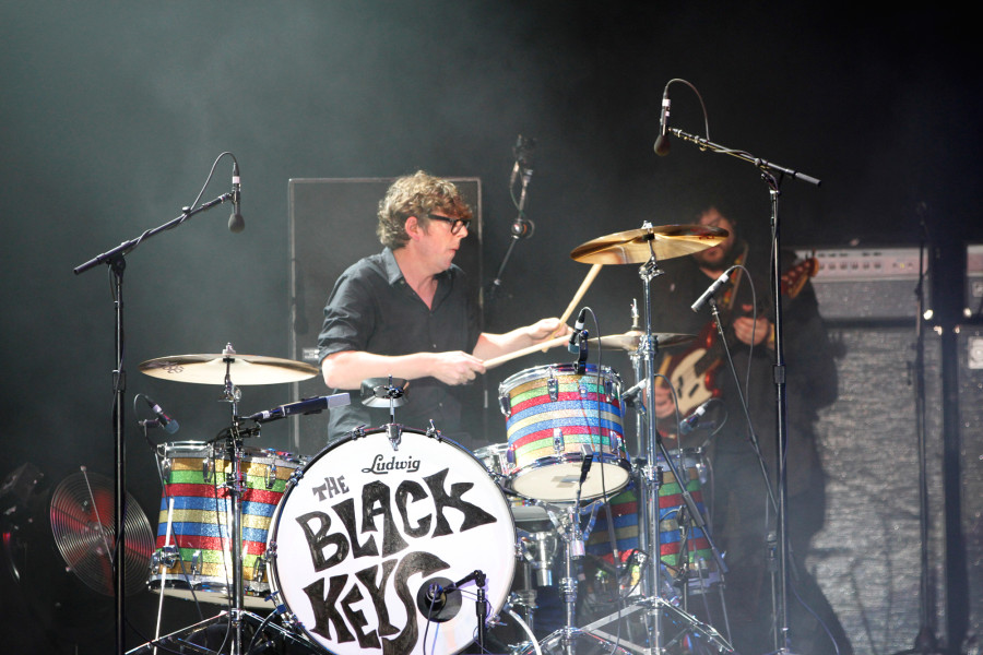 The Black Keys' Patrick Carney performs on the GovBallNYC stage at Governors Ball on Randall's Island, New York on June 7, 2015. (© Michael Katzif – Do not use or republish without prior consent.)