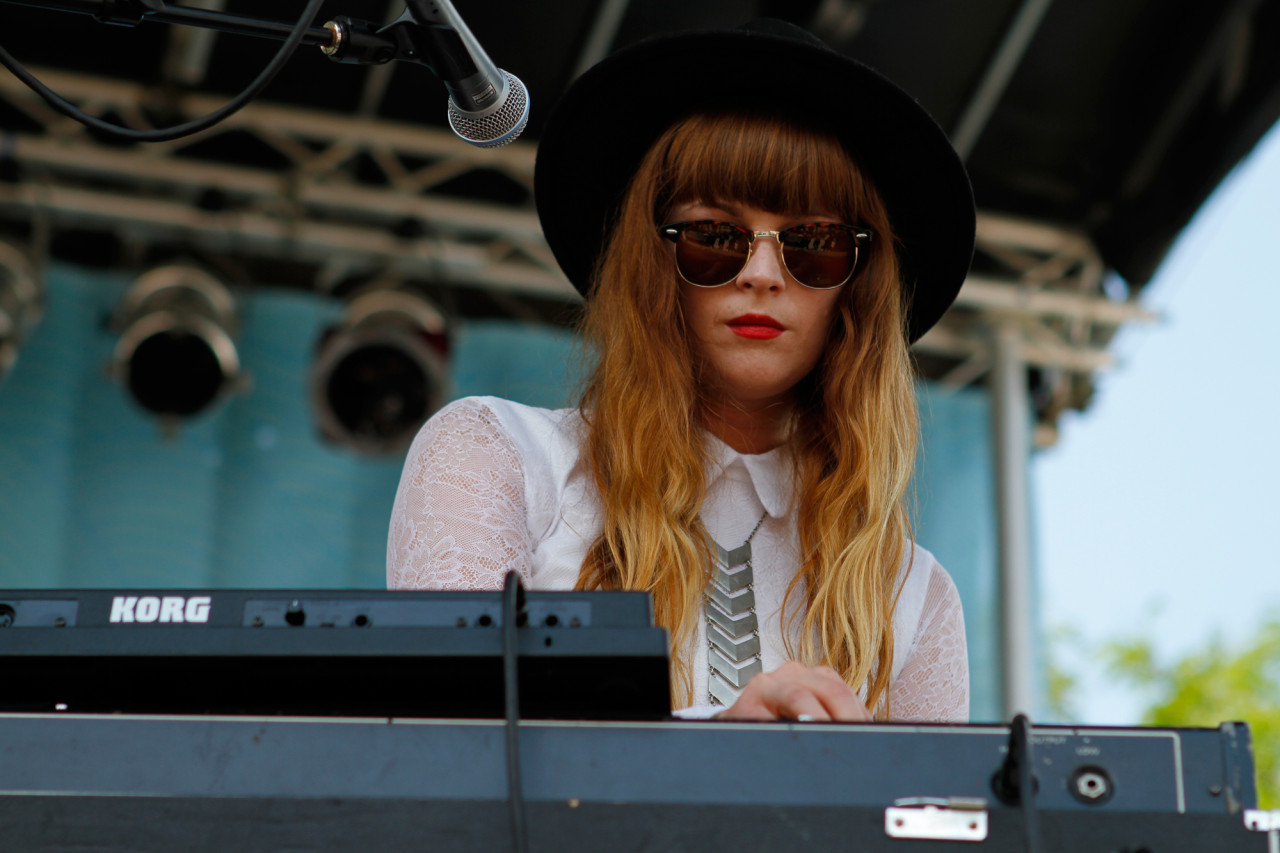 Heaven performs at Village Voice's 4Knots Festival at Pier 84 in New York, NY on July 11, 2015. (© Michael Katzif – Do not use or republish without prior consent.)