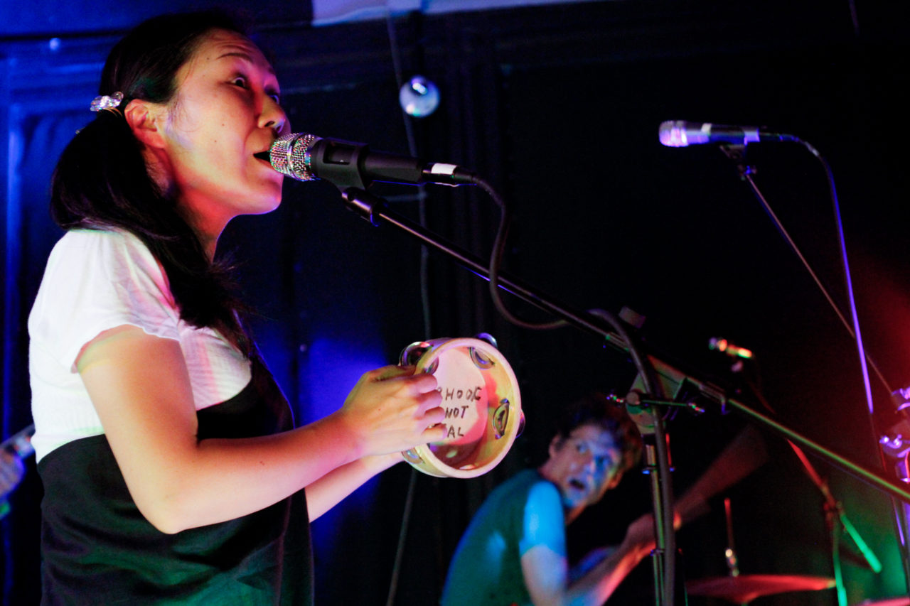 Deerhoof plays at Market Hotel in Brooklyn, NY on June 22, 2016. (© Michael Katzif - Do not use or republish without prior consent.)
