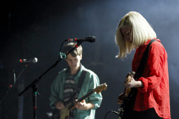Alvvays plays at Brooklyn Steel in Williamsburg, Brooklyn, New York on Oct. 5, 2017. (© Michael Katzif - Do not use or republish without prior consent.)