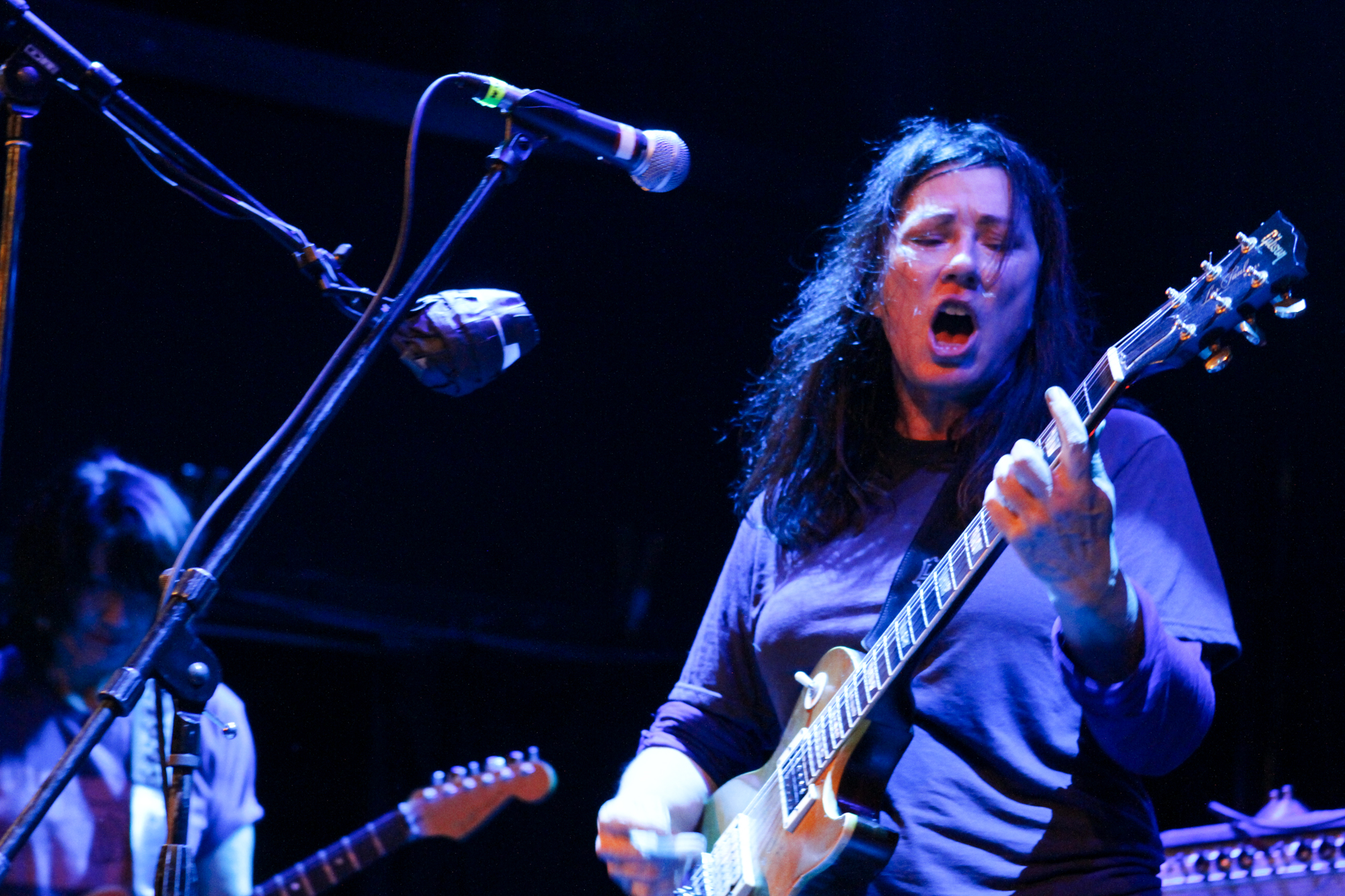The Breeders play at Bowery Ballroom in New York, New York on Nov. 5, 2017. (© Michael Katzif - Do not use or republish without prior consent.)