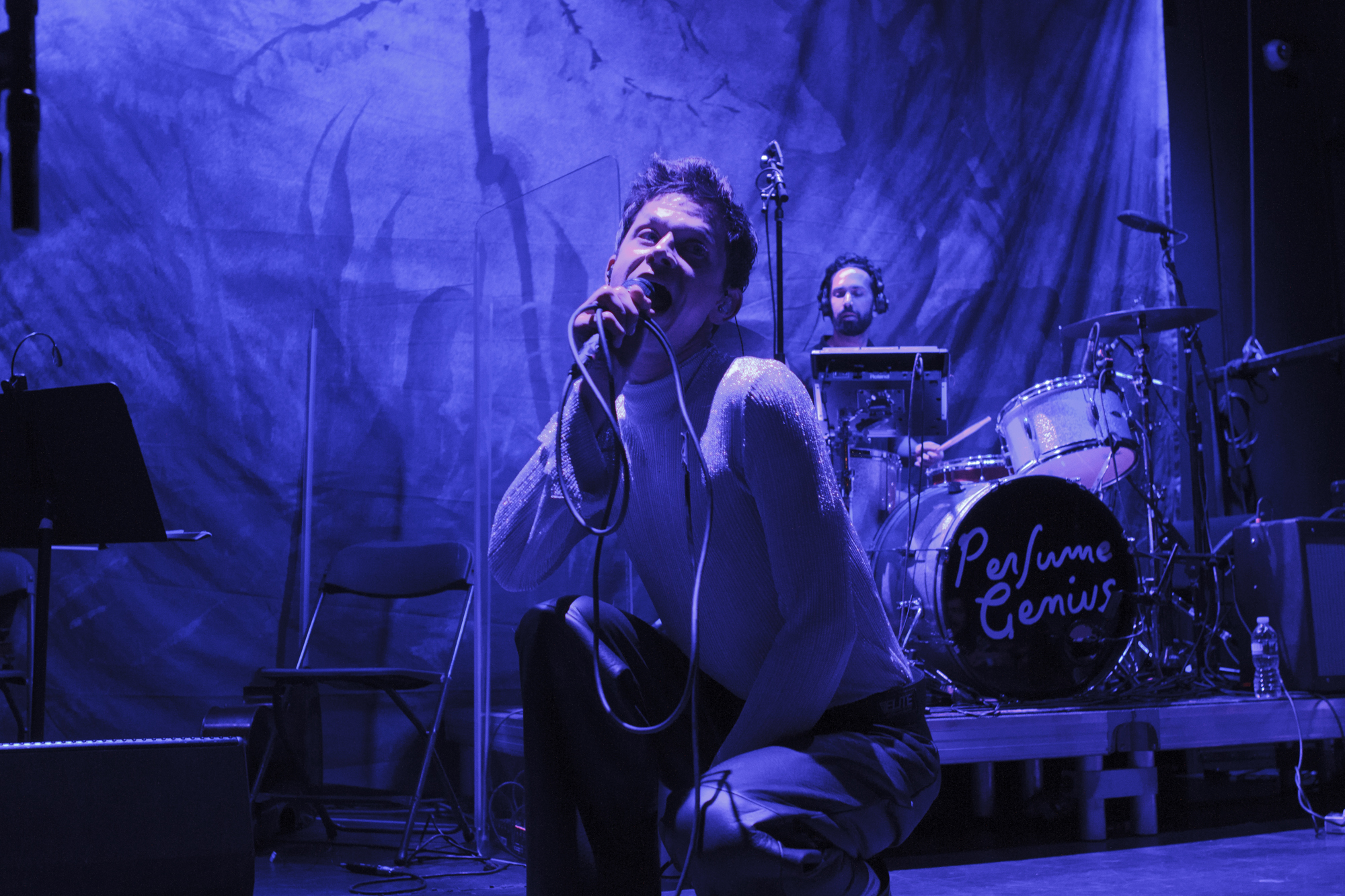 Perfume Genius play at Bowery Ballroom in New York, New York on Dec. 11, 2017. (© Michael Katzif - Do not use or republish without prior consent.)