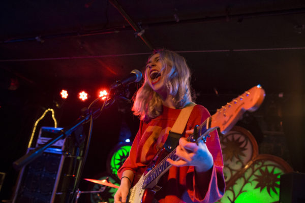 Snail Mail plays at Brooklyn Bazaar in Greenpoint, Brooklyn, New York on Jan. 26, 2018. (© Michael Katzif - Do not use or republish without prior consent.)
