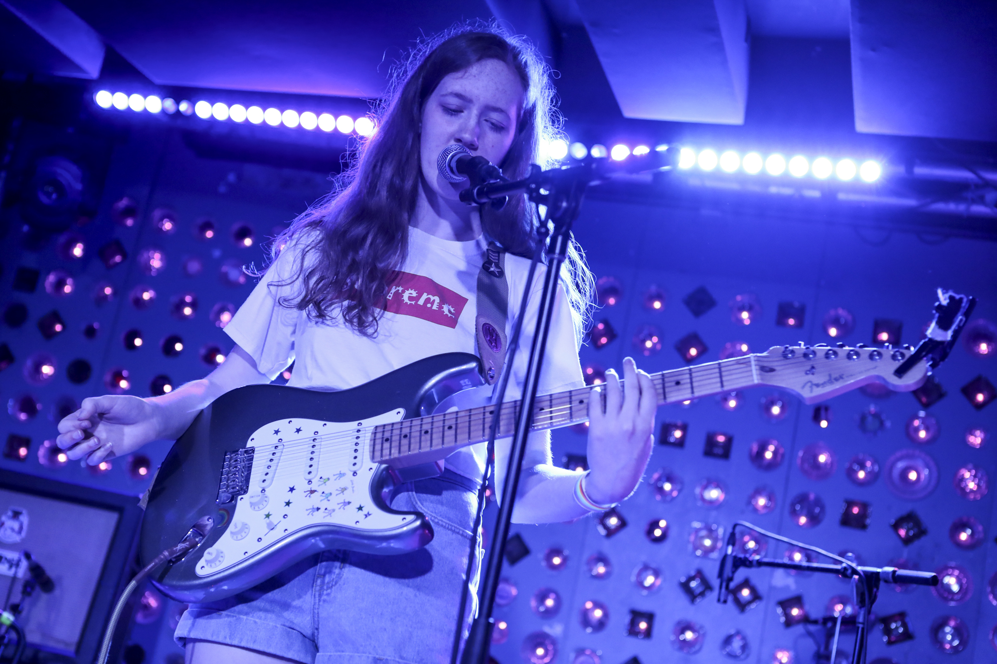 Sidney Gish plays the Double Double Whammy x GLRMIC x Terrorbird Media day party during Northside Festival at Baby's All Right in Williamsburg, Brooklyn, New York on June 9, 2018. (© Michael Katzif - Do not use or republish without prior consent.)