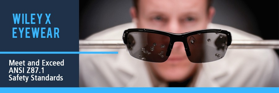 WileyX Glasses Meet or Exceed ANSI Safety Standards