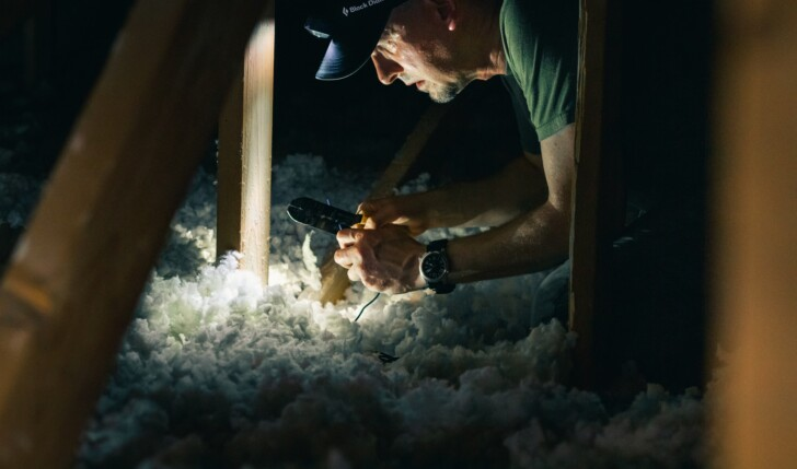 inspecting an attic