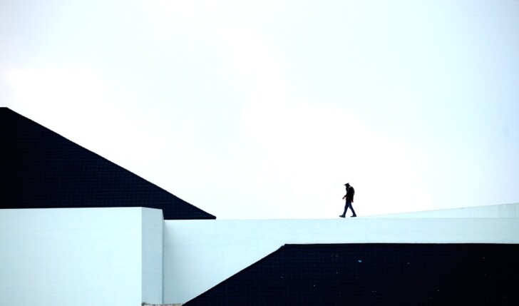 walking on a building