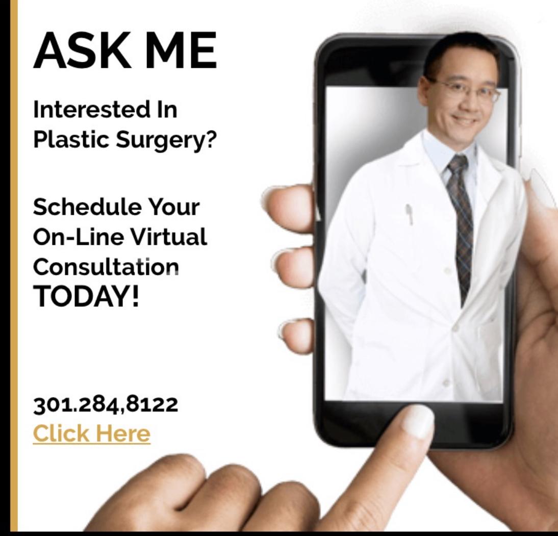 TEXT 301.284.8122 Washingtonian TOP Doctor, Bennett Yang MD, Plastic Surgeon