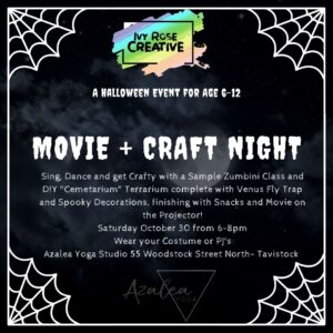 Movie + Craft Night! October 30 from 6-8pm Age 6-12