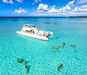things to do in punta cana dominican republic catamaran party to Saona Island picture