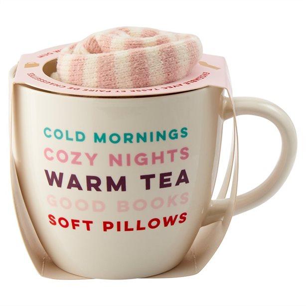 Cold Mornings Mugs and Socks Set, $18.00