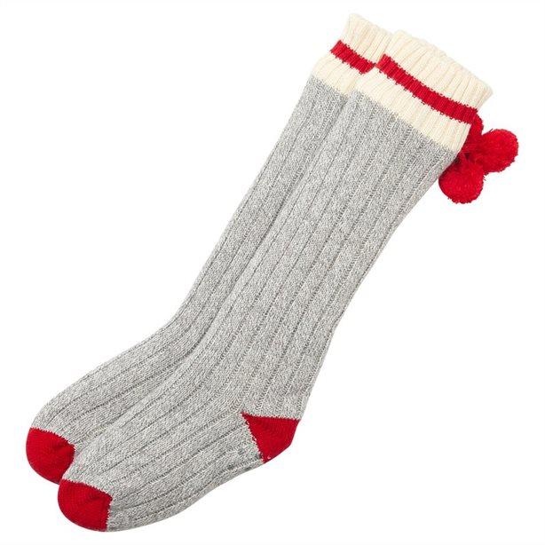 Pom Pom Stripe Reading Socks™, $34.50