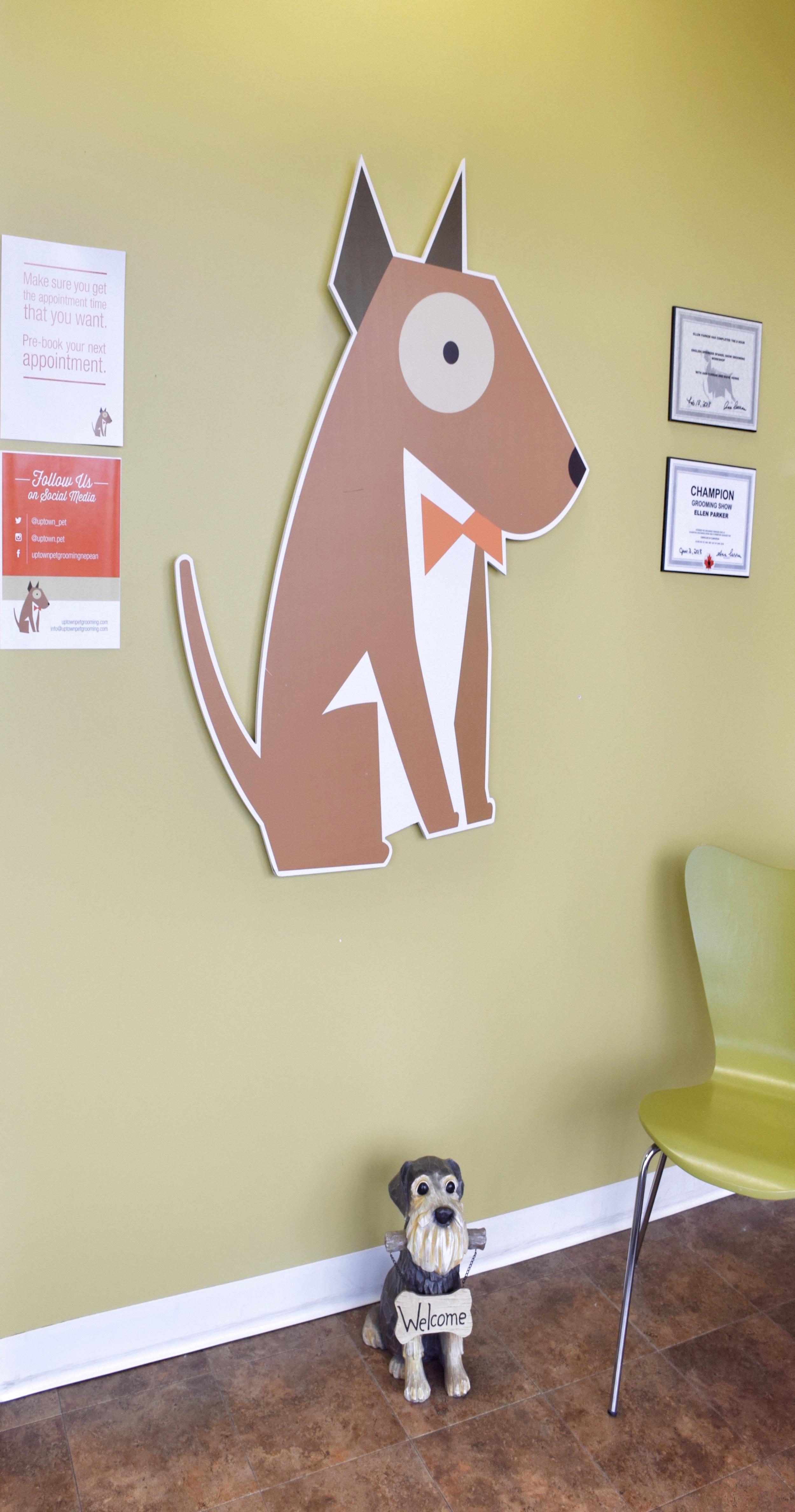 Uptown Pet Grooming entryway
