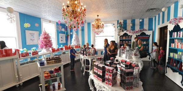 inside the Sweet Pete's Candy Shop