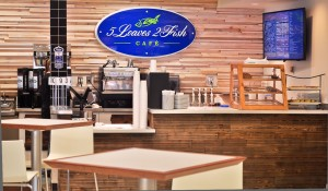 coffee station and back wall