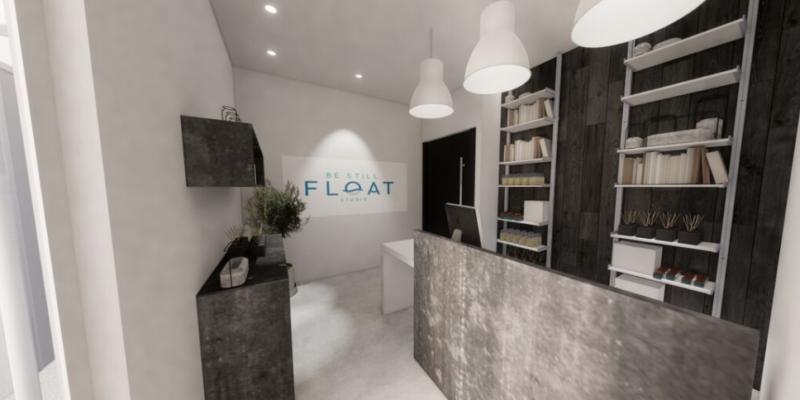 Interior image of float studio