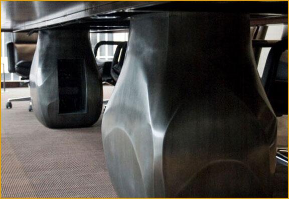 bold custom desk metal work by eric bauer