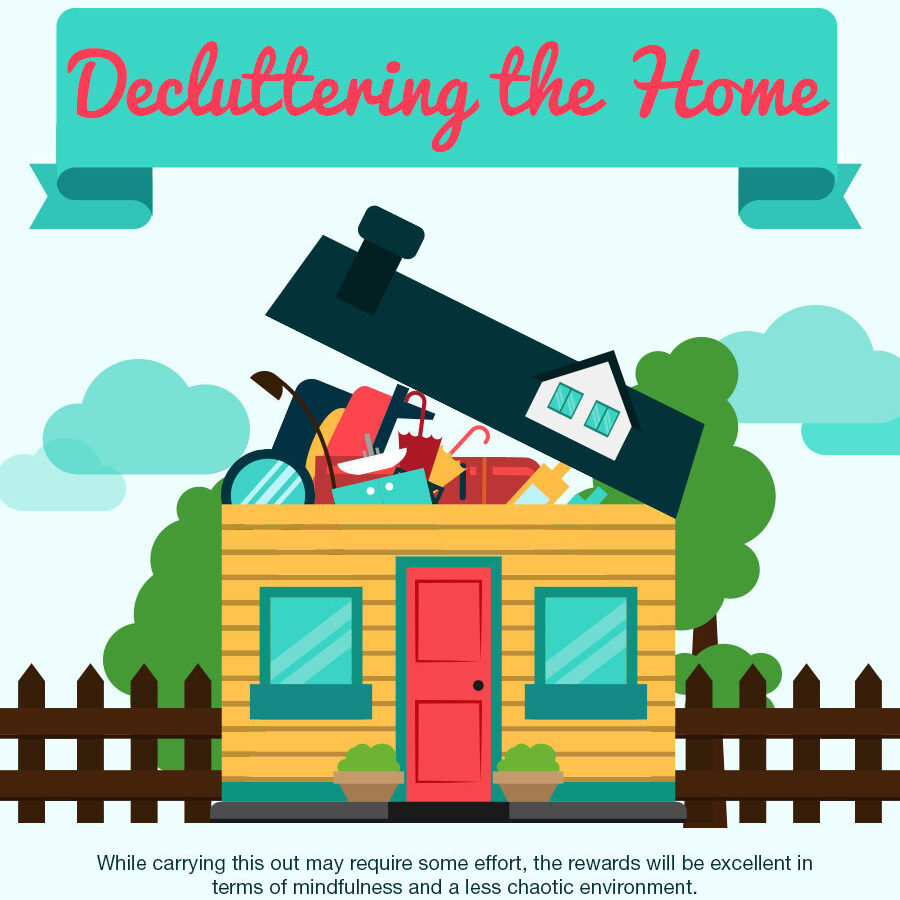 Decluttering the home infographic