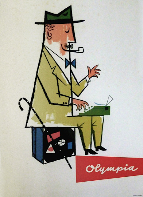 1960 Olympia typewriter poster by Max Velthuys