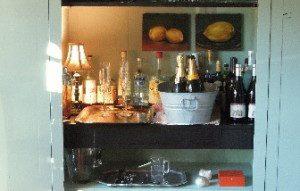 """inside of original """"Wyeth Blue"""" bar"""