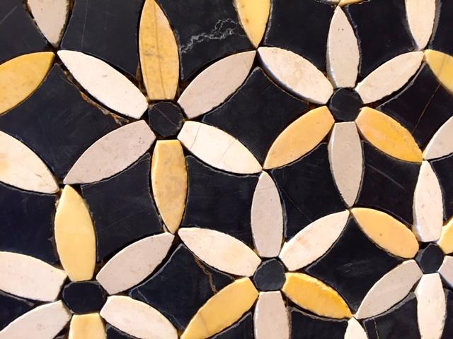 Updated mustard and black tiles. Ha, ha!