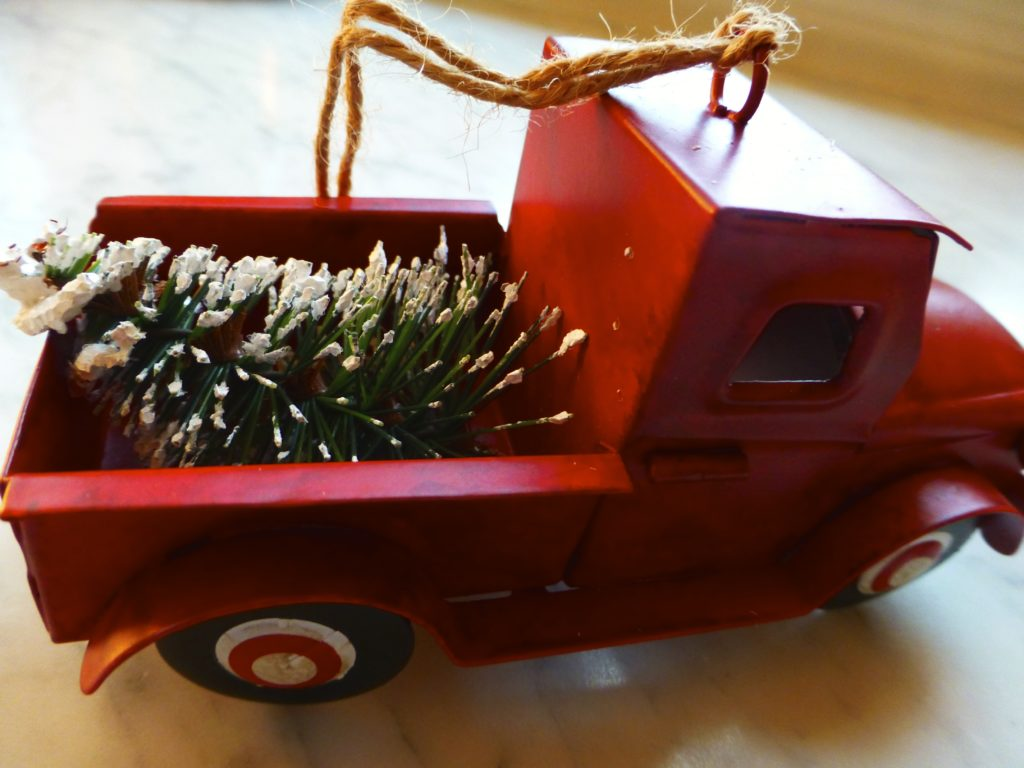 Red Truck ornament $5.00