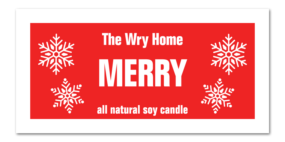 Holiday Candle 2021 Merry