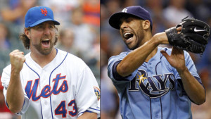 R.A. Dickey and David Price
