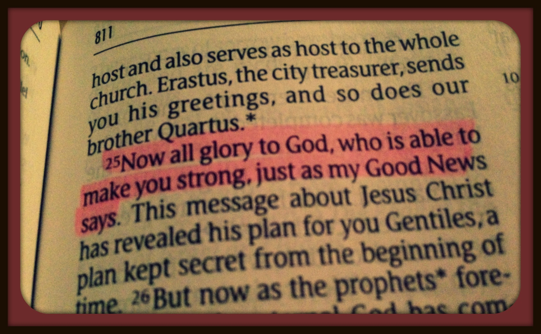 The glory is His.