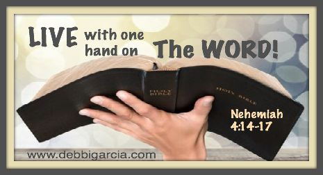 Live with one hand on the Word.