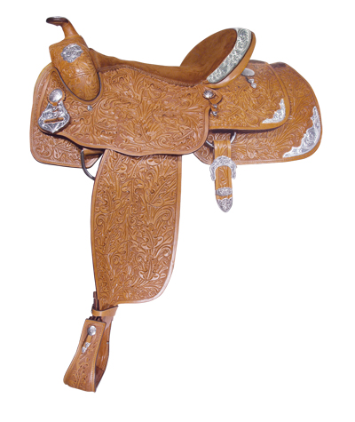 <p><b>PRE-ORDER ONLY</b></p> 1002 ACORN TOOLED SHOW SADDLE