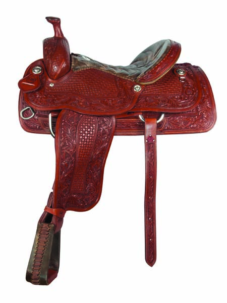 <p><b>PRE-ORDER ONLY</b></p>1380- toast combo tooled roper saddle