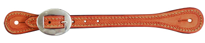 E-387-RPE ELITE ROUGH OUT RUSSET SPUR STRAP WITH ROPE TOOLING