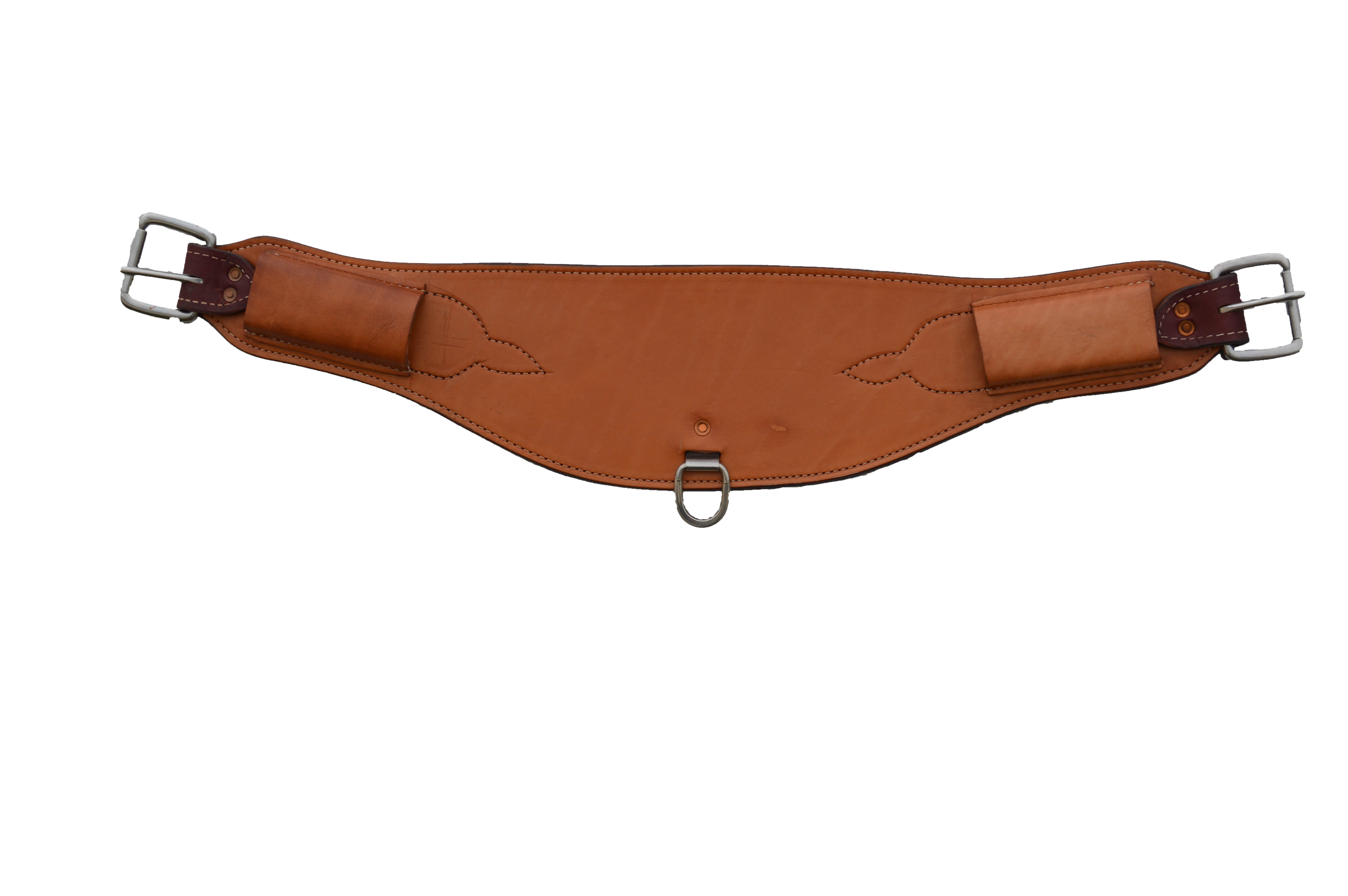"""186 31"""" x 6-1/2"""" Curved back flank golden leather"""