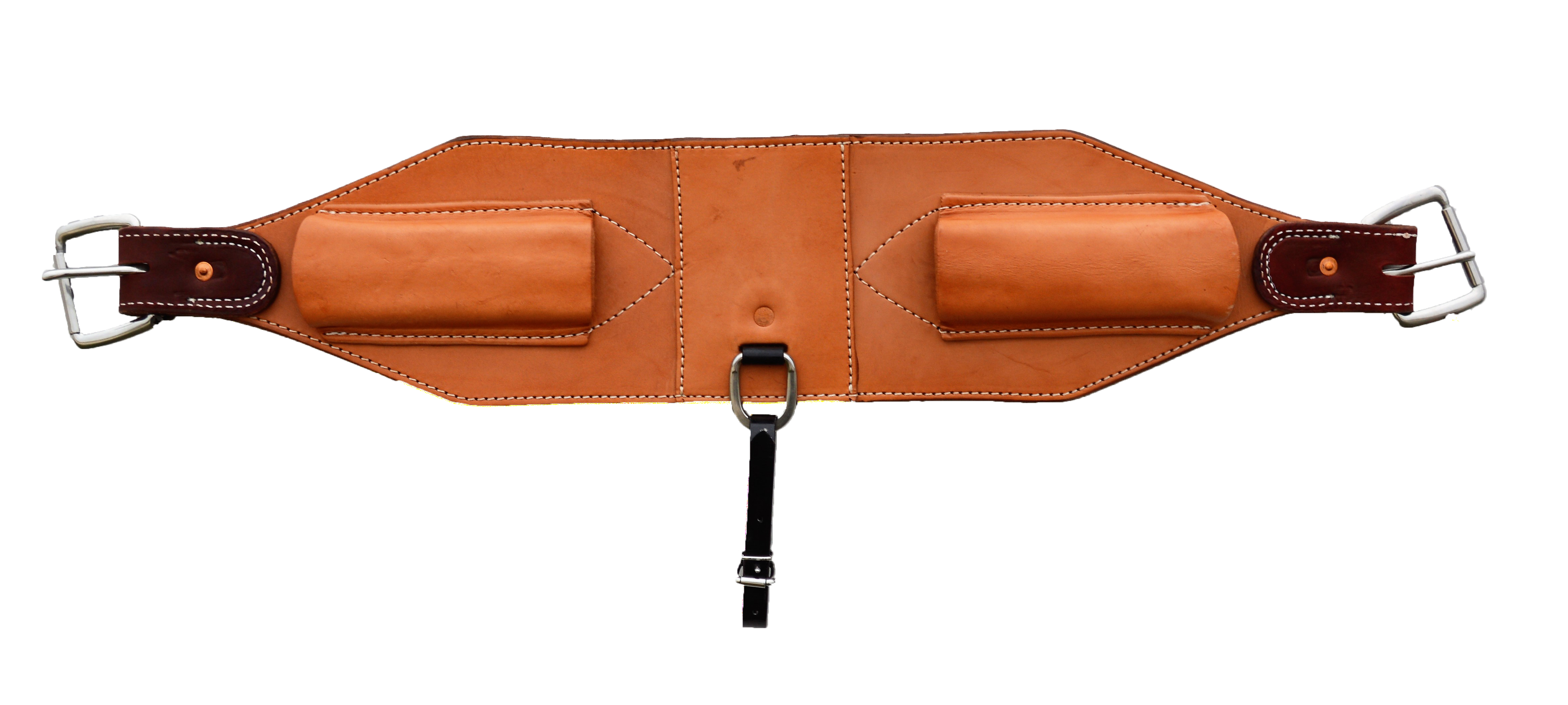 """1886 30-1/2"""" x 6-1/4"""" Back flank golden leather"""