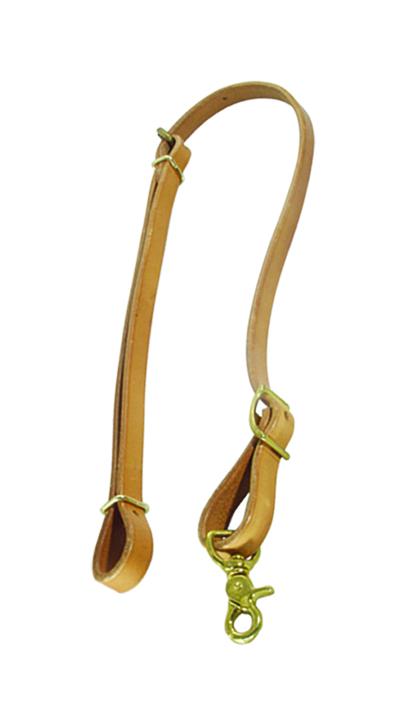 756-HL Tie down harness leather w/ brass hardware