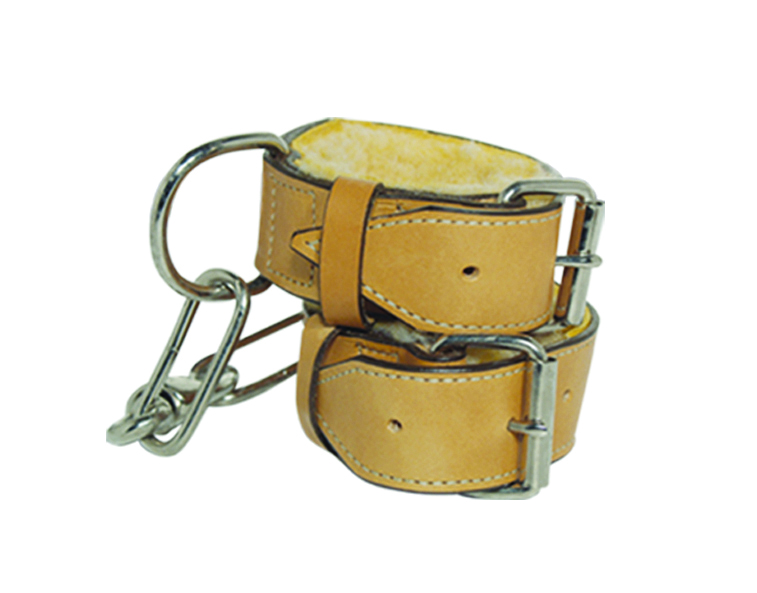 910 Chain hobble strap golden leather