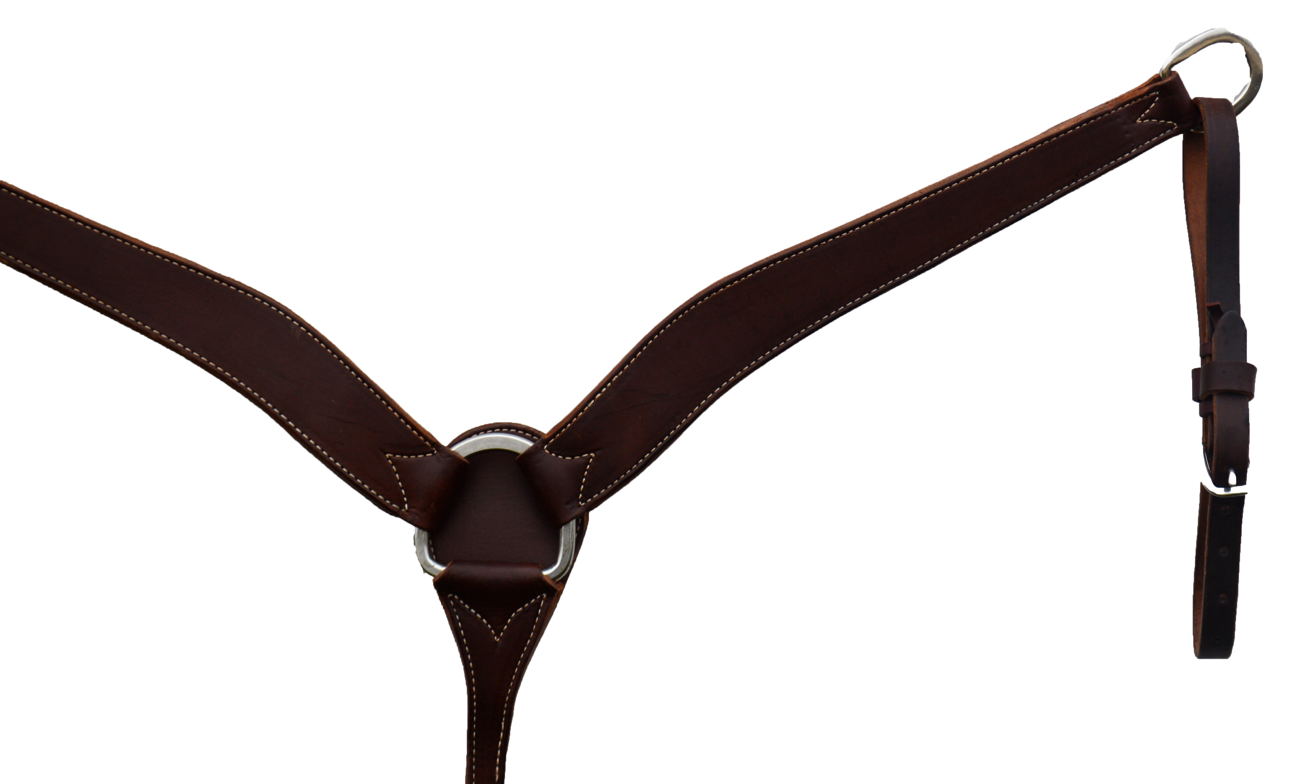 ELITE 2in BREAST COLLAR CHOCOLATE LEATHER