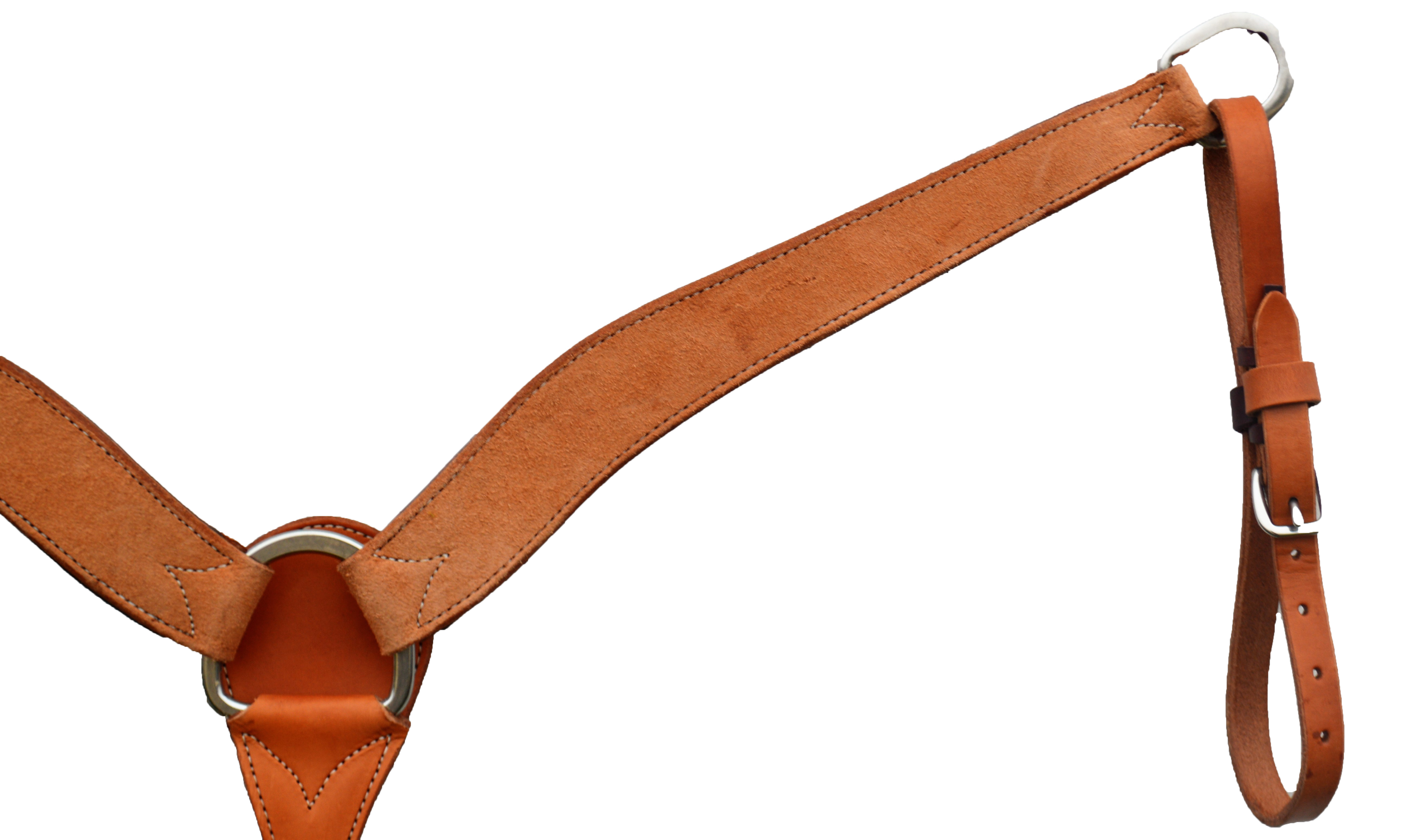 ELITE 2in BREAST COLLAR GOLDEN ROUGH OUT LEATHER