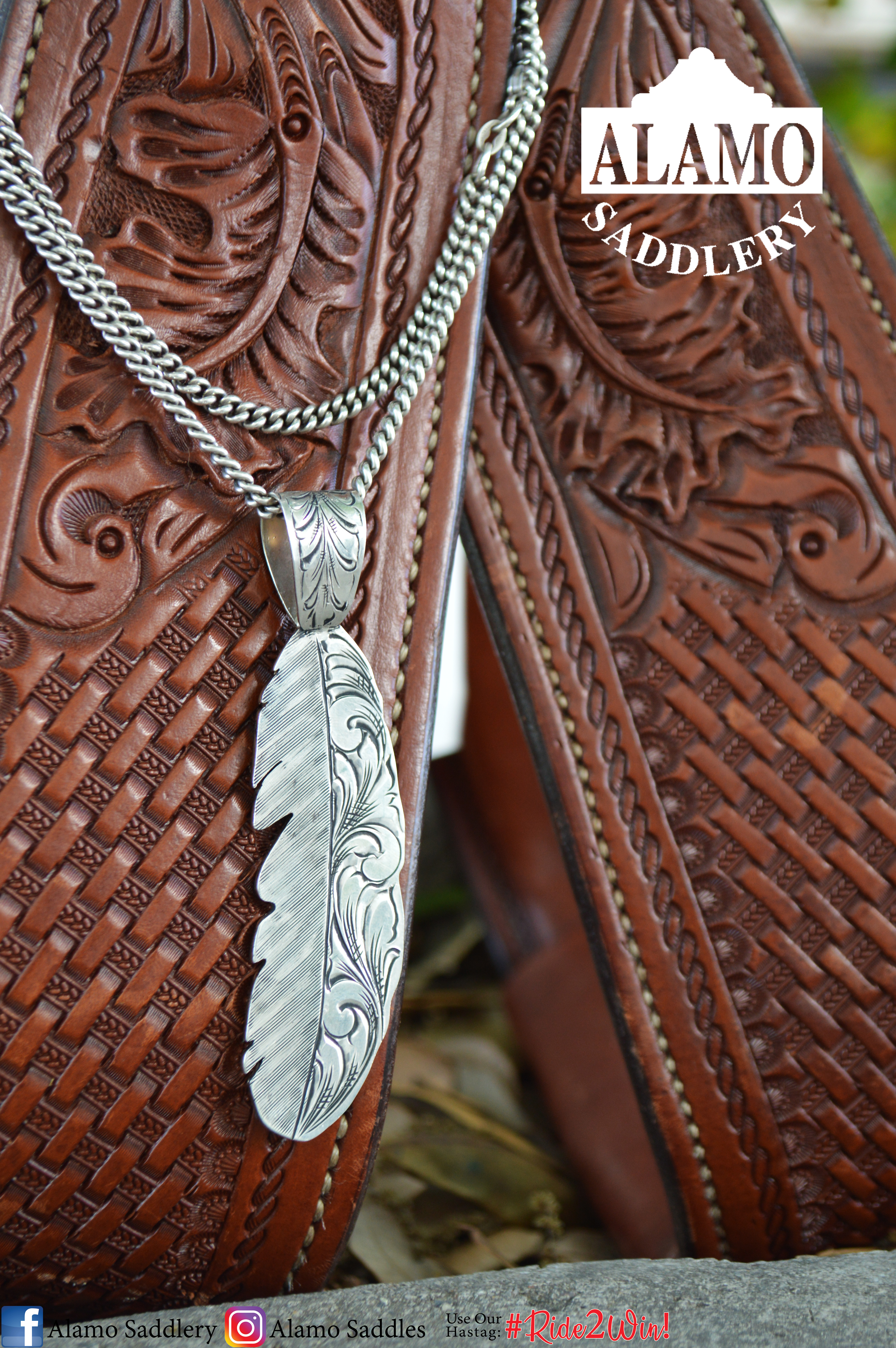 Sterling Silver Feather Pendent