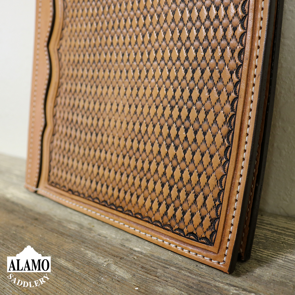Golden Leather Portfolio w/ Geo Tooling