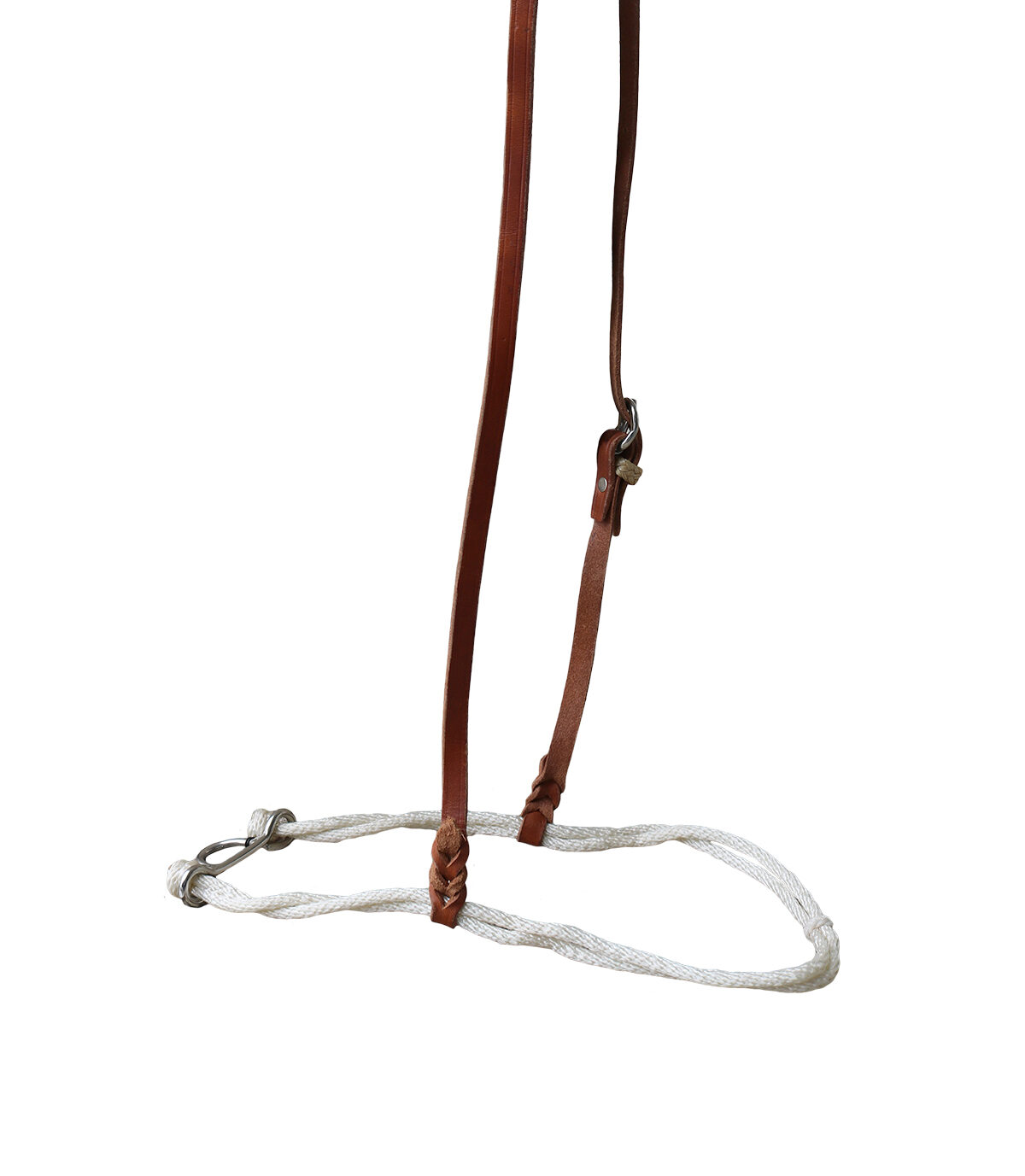 E-2001 elite single rope cord noseband with rawhide loops