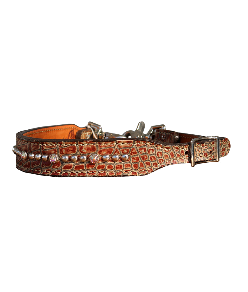 200-JGB Brown Gator Wither Strap
