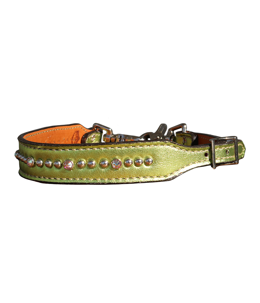200-JL Wither Strap with Lime Green Overlay w/ Spotting