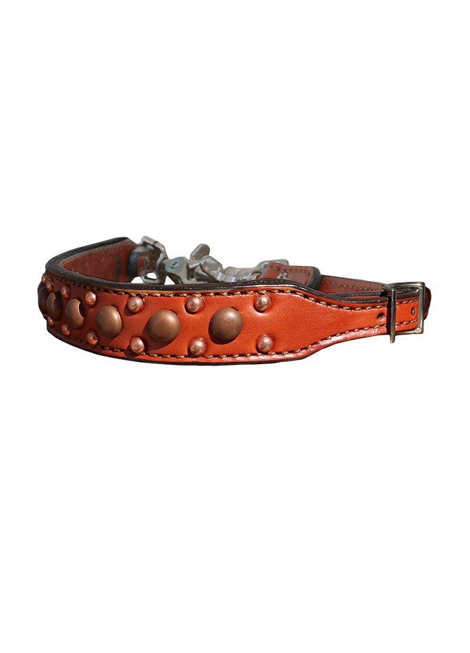 200-TC Toast Leather Wither Strap w/ Copper Spots
