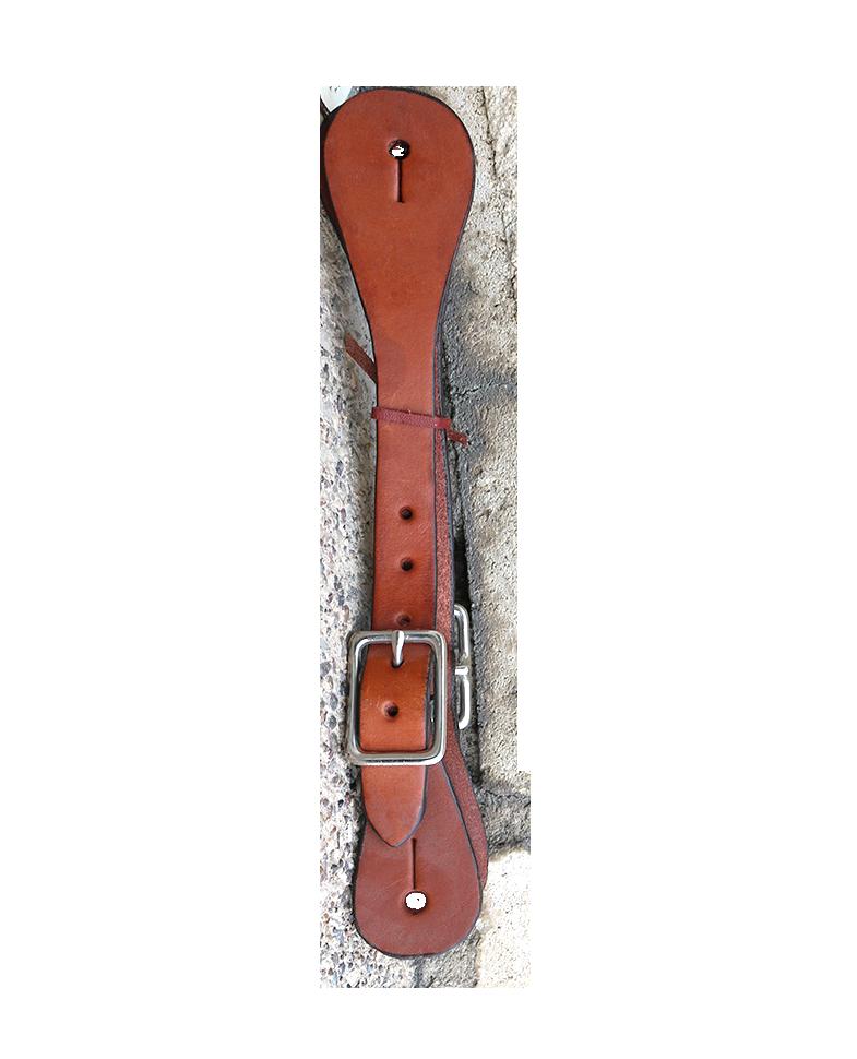370-T Ladies & kid's spur strap toast leather